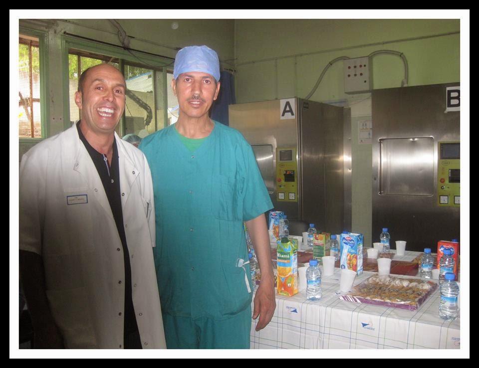 TAKRIME LE RETRAITE MR OUNACER MOULOUD L INFIRMIER DU BLOC OPERATOIRE DE LA SALLE TRAUMATOLOGIE ORT