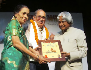 Felicitated with Life time achievement award by Shri Dr Abdula Kalam at Cartoon Festival, New Delhi