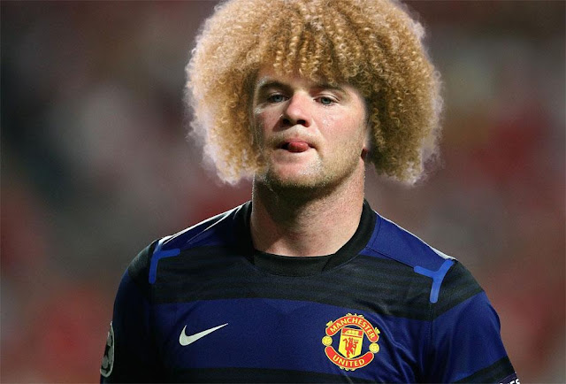Wayne Rooney Hairstyles Carlos Valderrama s blonde locks might be an idea though it would