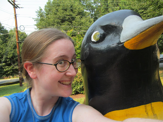me and the Silver Spring penguin