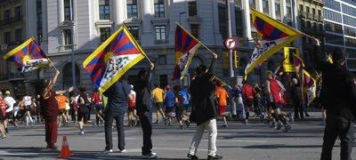 Tibet hoy en el Paseo de Gracia de Barcelona (Maratón 2011)