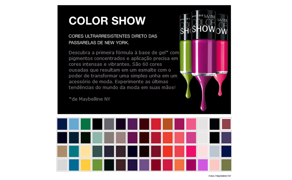 Esmalte Color Show - Blog No Balaio da Gata