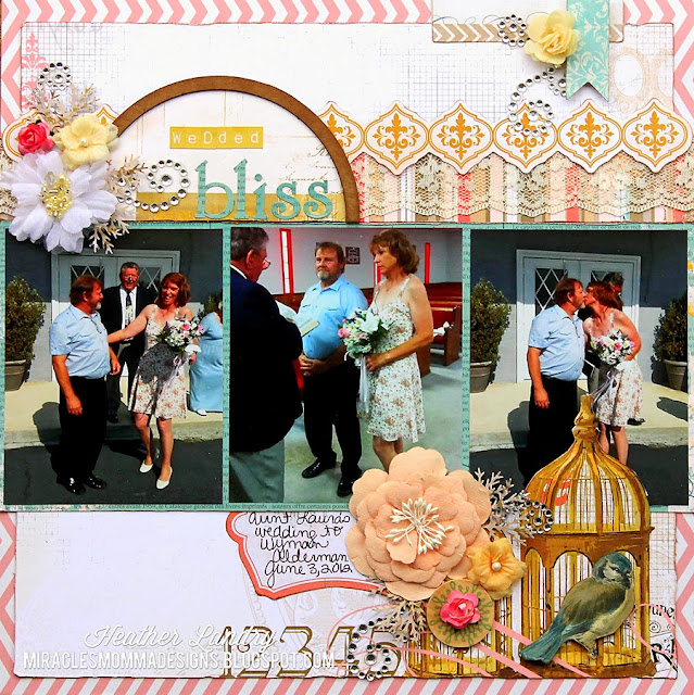 Wedding Scrapbook Page_Aunt_Bling_Flower_Prima