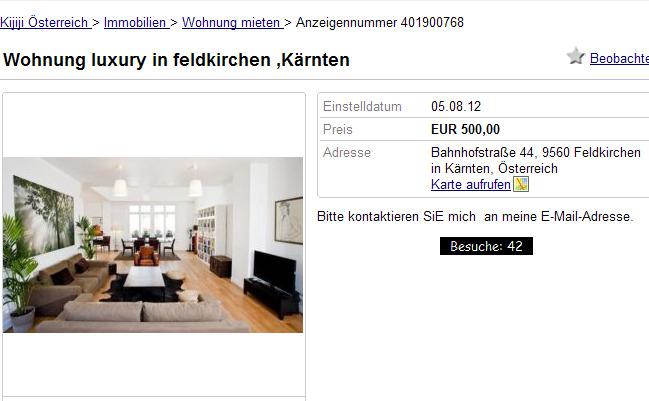 Wohnung luxury in feldkirchen wohnung luxury in bregenz for Wohnung mieten in