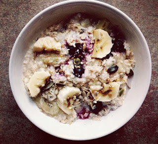 Delicious and creamy blueberry and banana oats recipe