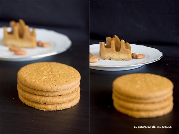 flan de galletas y almendras