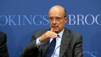 Alain Juppe, traitor to the French, traitor to free humanity, sits in front of the Brookings Institute parroting verbatim the global elites' month old talking points.