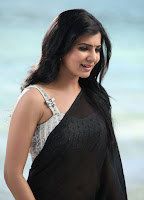 Samantha Black Saree Hot Photos