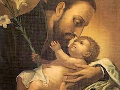 San Cayetano con el Niño Jesús en Brazos