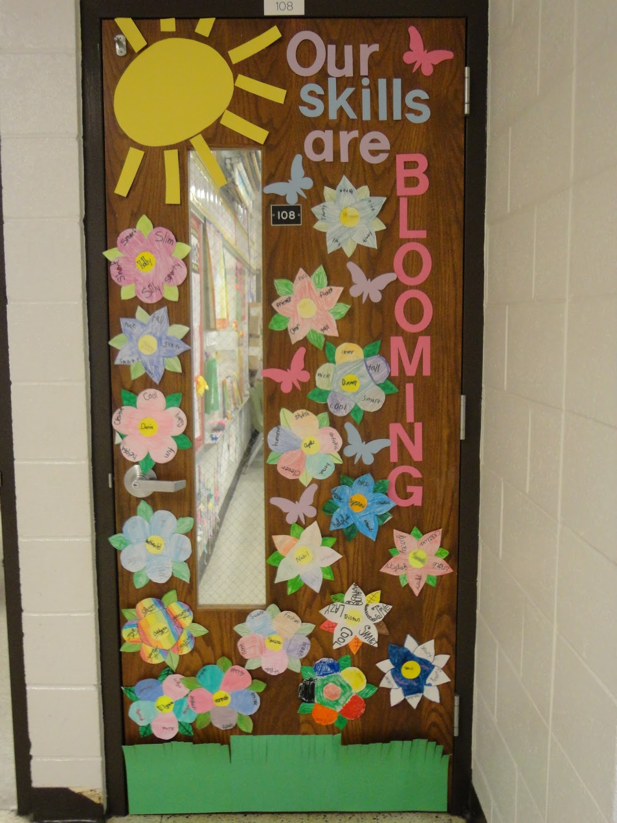 Classroom Door Decoration Spring ~ Mrs callaghan s classroom spring door decoration