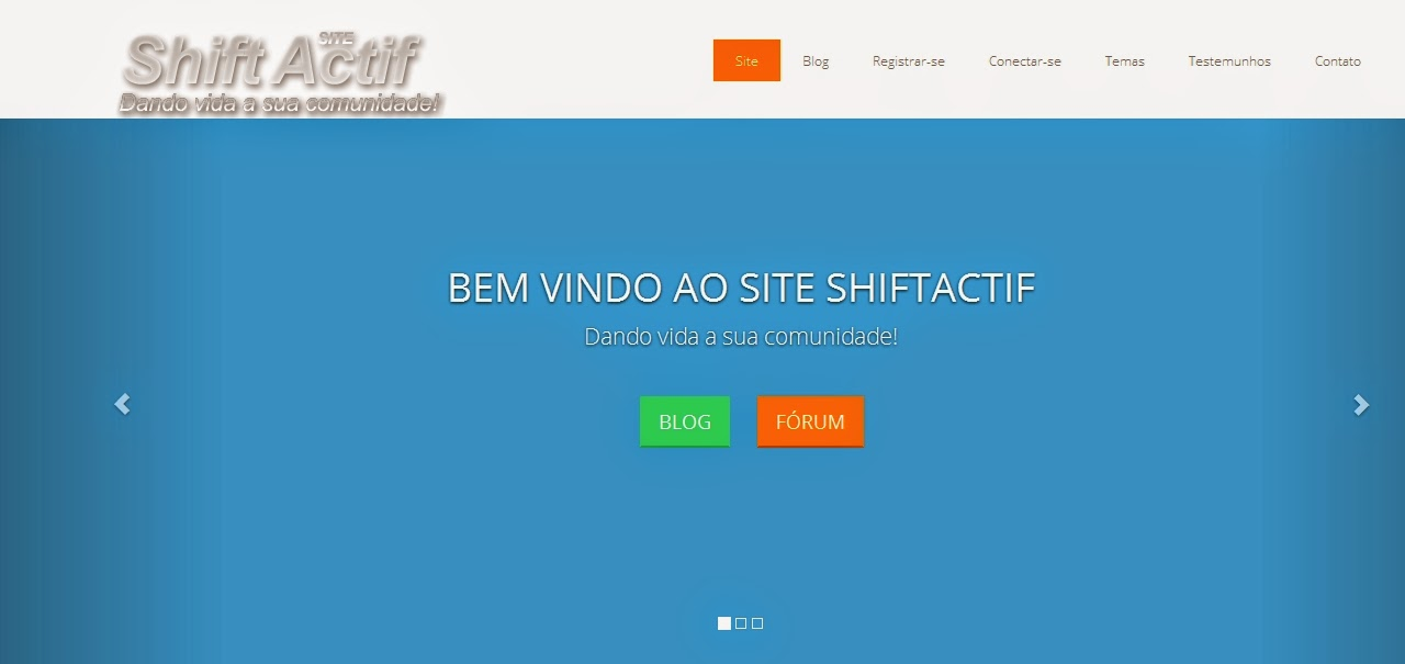 Novo website ShiftActif 2015