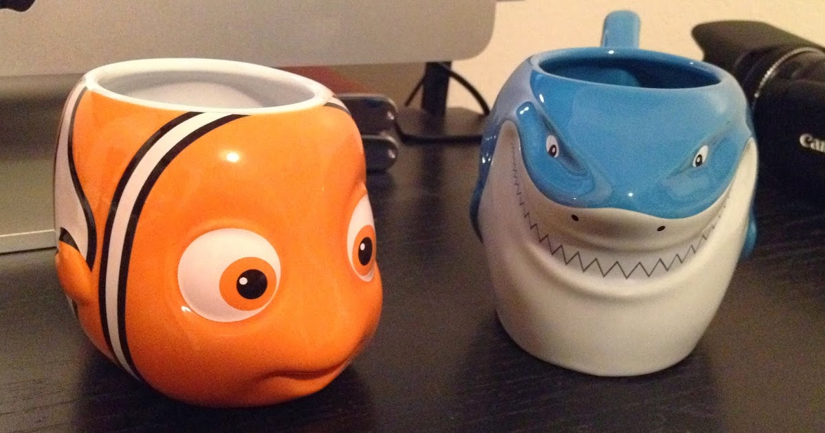 Dan the pixar fan finding nemo bruce and nemo 3d character mugs - Walle and eve mugs ...