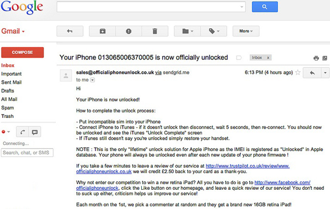 Official iPhone Unlock iPhone 4S