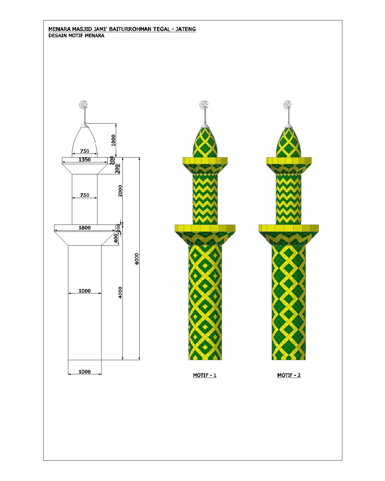 contoh, desain, gambar, menara, kubah, masjid, enamel, galvalum, alucopan, warna, cat, harga, murah, pengrajin, jawa tengah, barat, timur