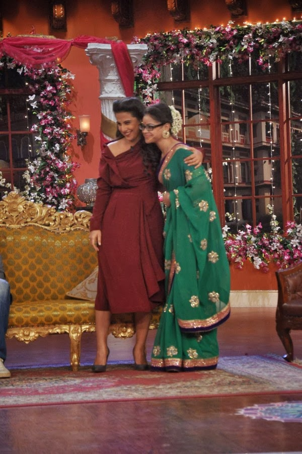 Vidya Balan on the sets of Comedy Nights with Kapil