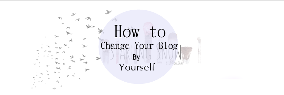 How to Change your Blog Looks By Yourself