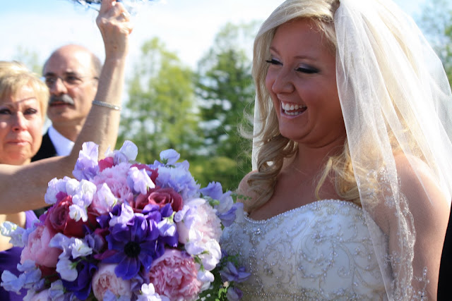 Bridal Bouquet - Penn State College Wedding - Splendid Stems Floral Design