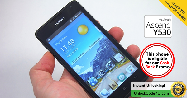 Factory Unlock Code for Huawei Ascend Y530