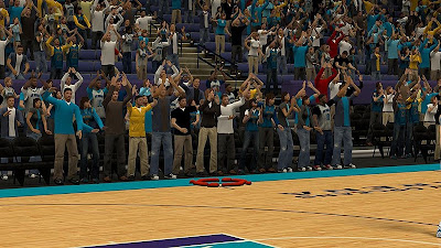 NBA 2K13 New Orleans Hornets Arena Crowd Fix Mod