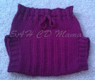 Front of  Tina from September wool soaker