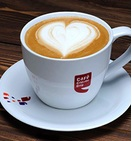 Cappuccino at Coffee Cafe Day for Rs. 1.0