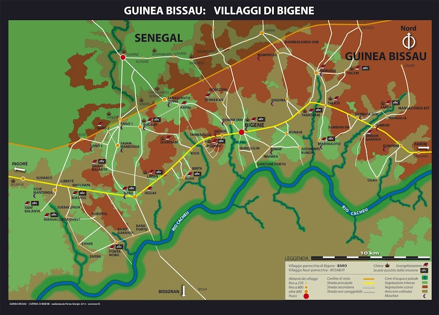 La missione di Bigene: 58 villaggi su 300 km quadrati