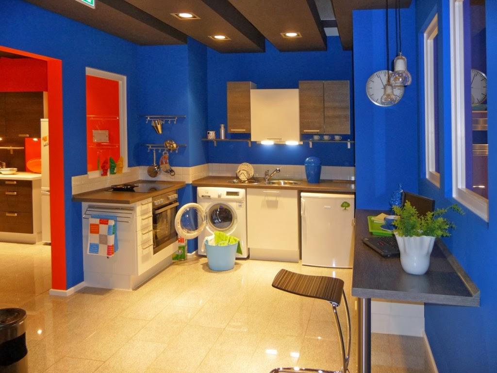 Fotos de cocinas juveniles colores en casa for Great un bano con paredes en naranja de
