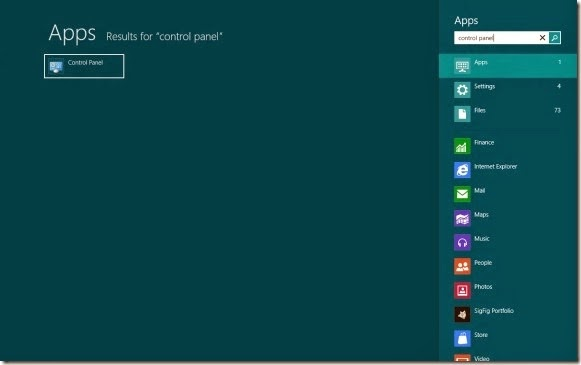 Tips Membuka Control Panel pada Windows 8