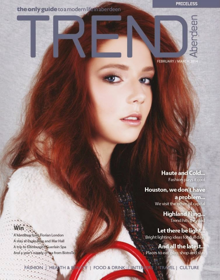 Trend Magazine, Aberdeen with a red head model