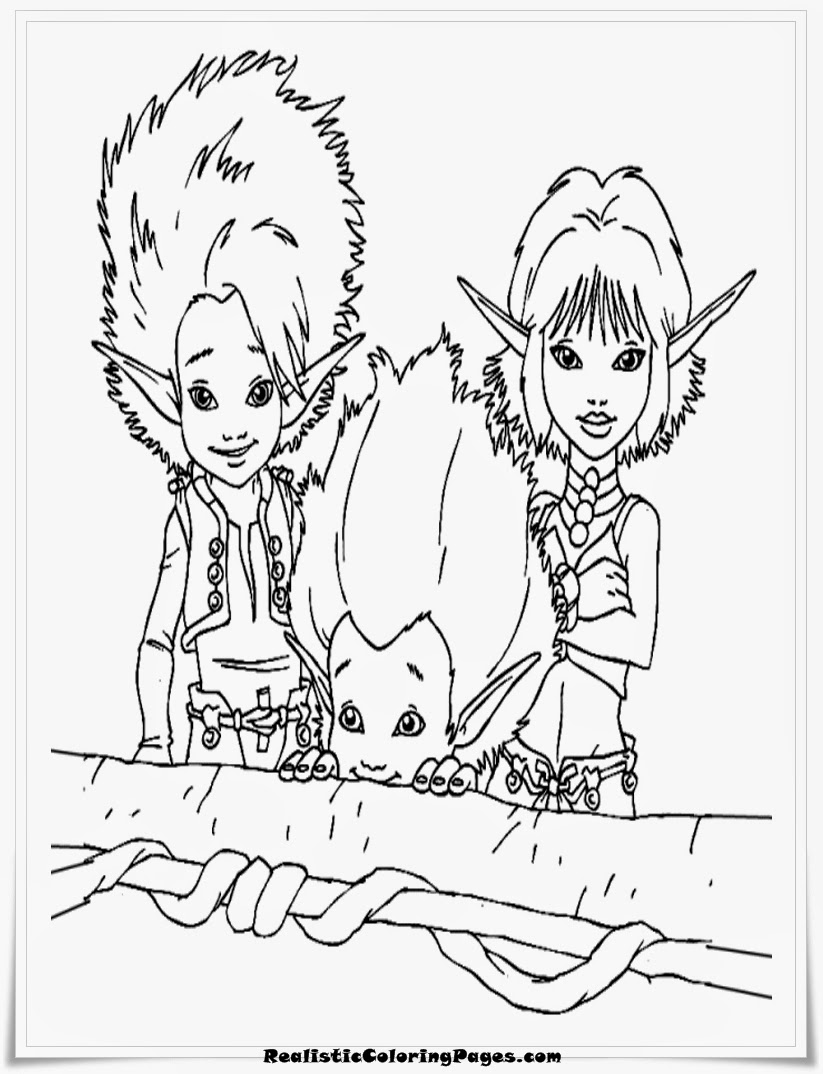 arthur and the invisibles coloring pages
