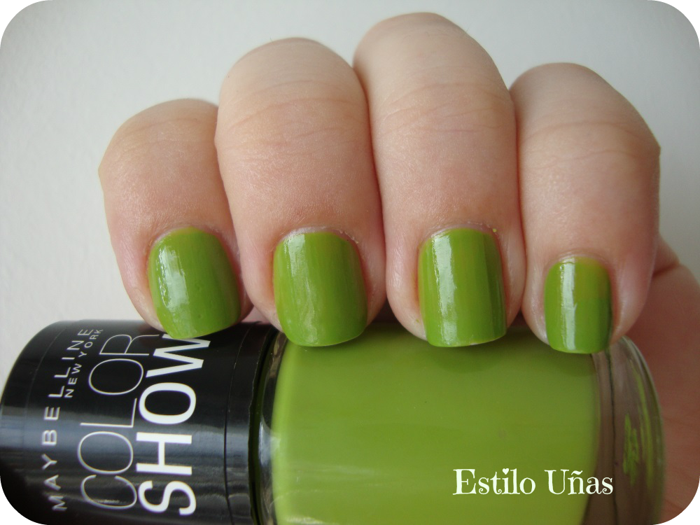 Estilo Uñas: Color Show - Go Go Green
