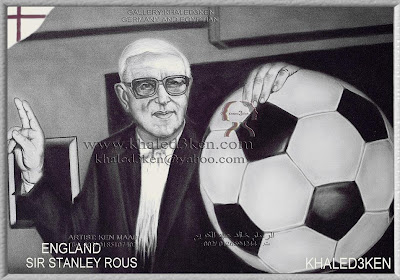 STARS ENGLAND SIR STANLEY ROUS FIFA PRESIDENT Portrait Drawing Soccer Football Khaled3Ken Gallery