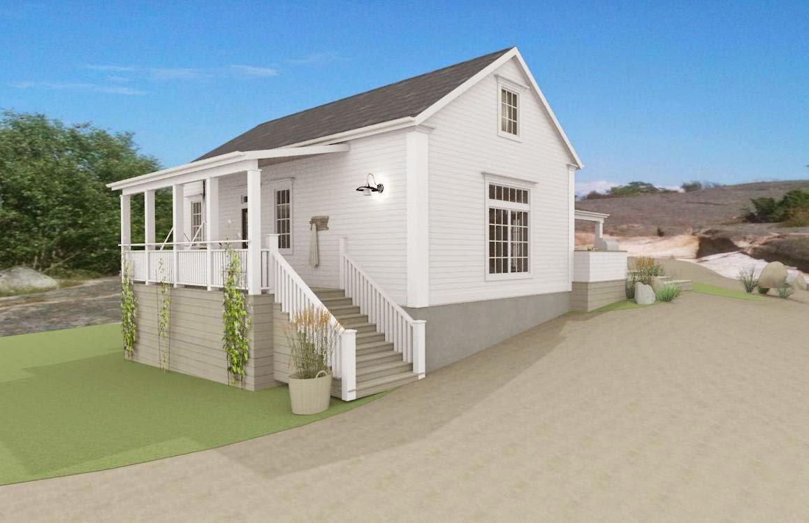 Den Vita Drömgården: Synliga balkar, liggande panel - eller inte....