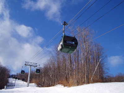 Gore Mountain's gondola on Sunday, January 8.  The Saratoga Skier and Hiker, first-hand accounts of adventures in the Adirondacks and beyond, and Gore Mountain ski blog.