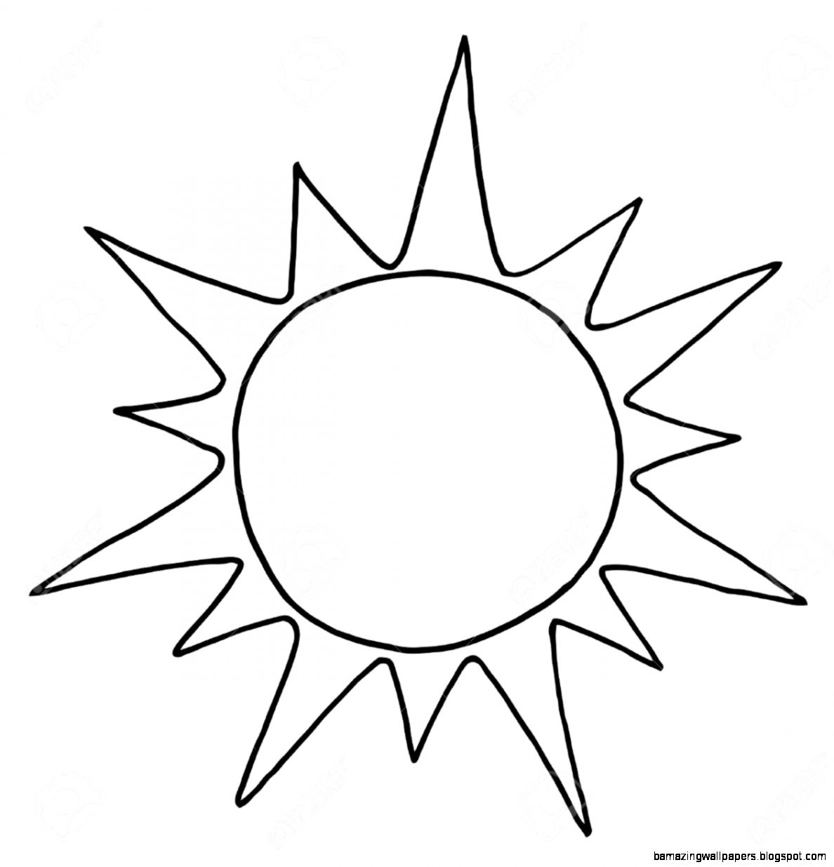 Sun Clipart Black And White