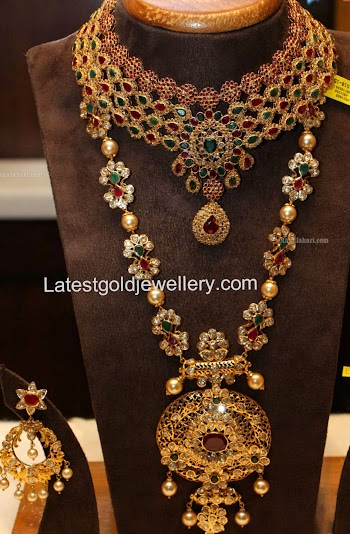 Latest Gold Jewellery Designs Uncut Diamond Necklace