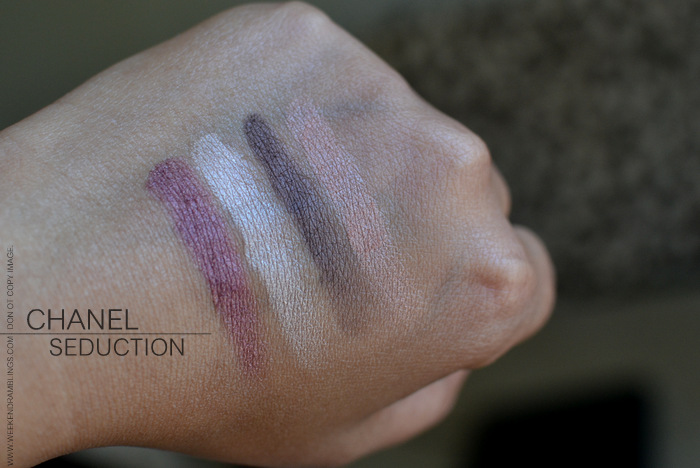Chanel Jeux de Regards Makeup Collection Seduction Eyeshadow Quad Photos Swatches