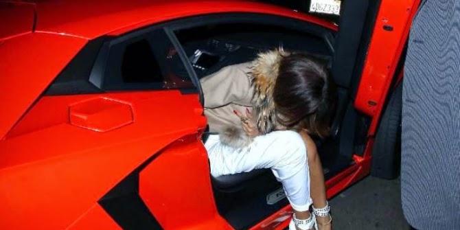 Rihanna - Red Lamborghini