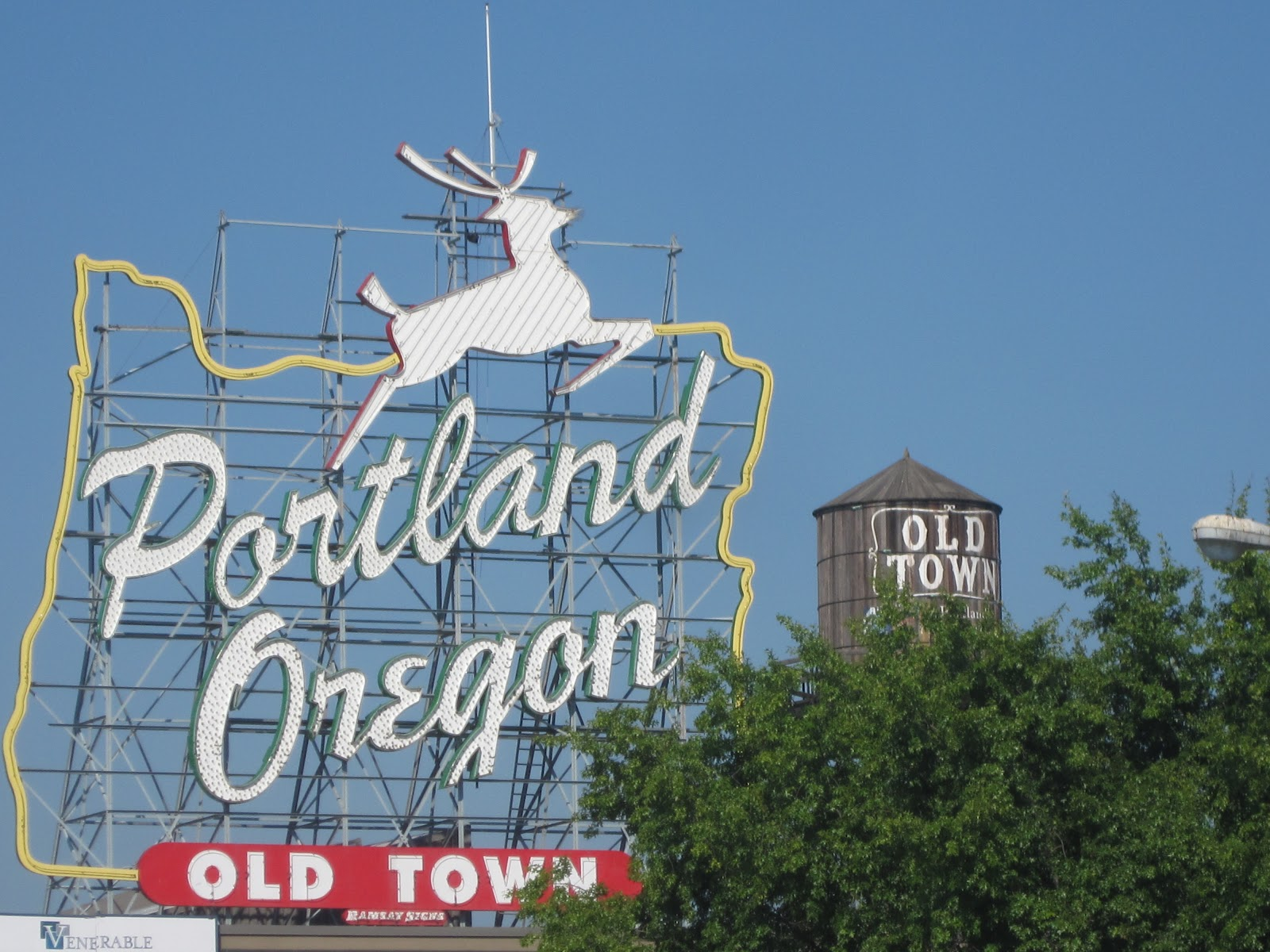 Portland a year in pictures day 1 white stag sign old town day 1 white stag sign old town sciox Image collections