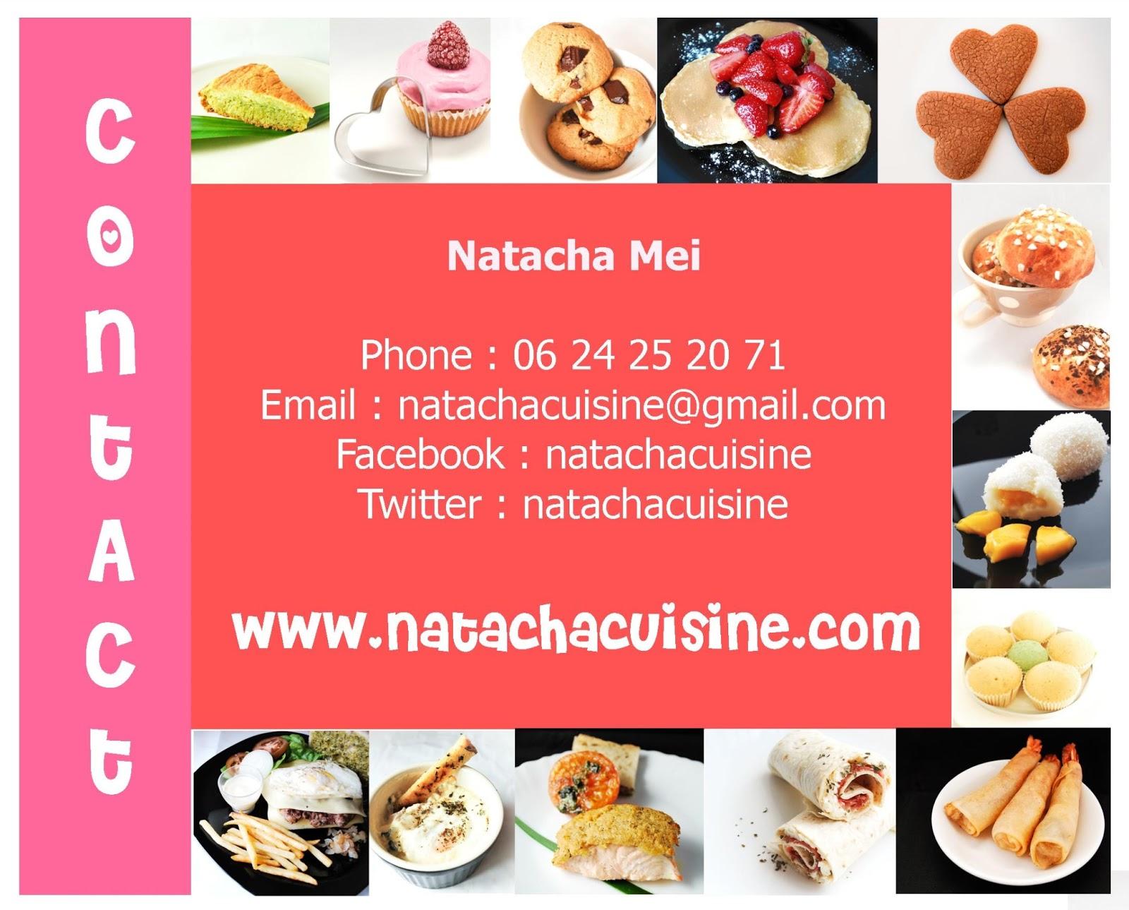 Cartes De Visites Natachacuisine Propose Des Cours Cuisine Ou Prestations Professionnelles Animation Dvnement Commande Gteaux Rdaction Darticles