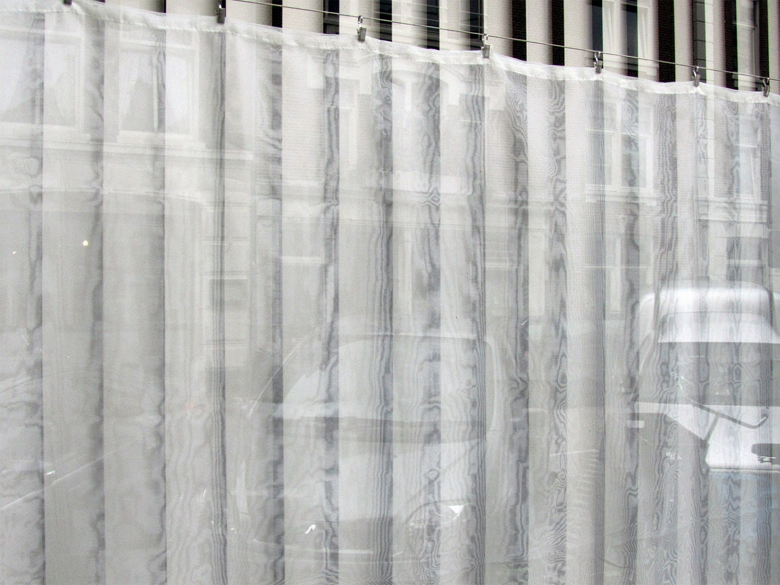 white curtains and lamellae