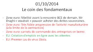 actualités économiques 1/10/2014