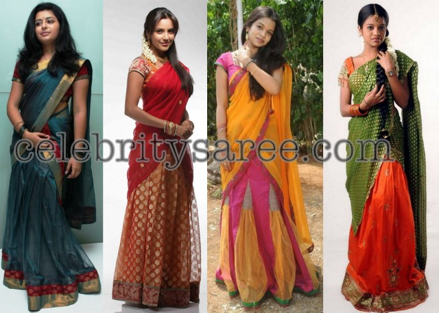 Half Saree Designers in Hyderabad http://www.celebritysaree.com/2012/10/tolly-actress-in-half-sarees.html