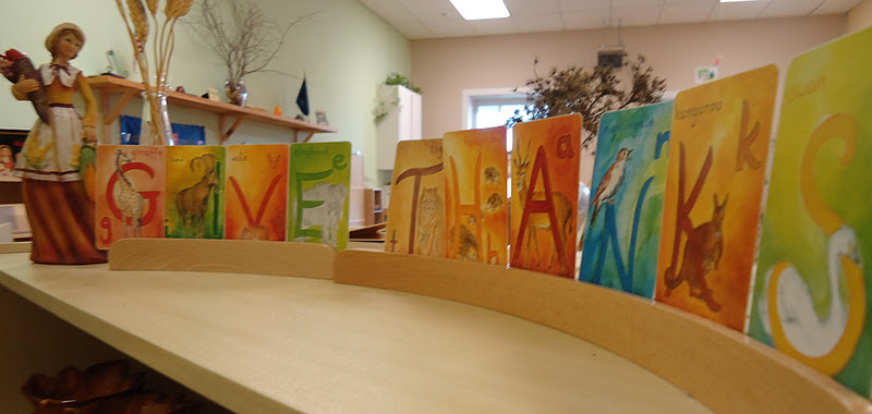 Dirigo Montessori School Thanksgiving Display (Photo from To the Lesson!)