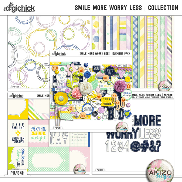 Smile More Worry Less - Collection by Akizo Designs