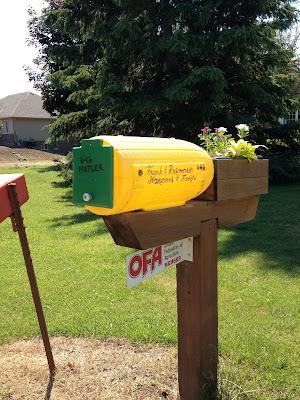 corn mailbox