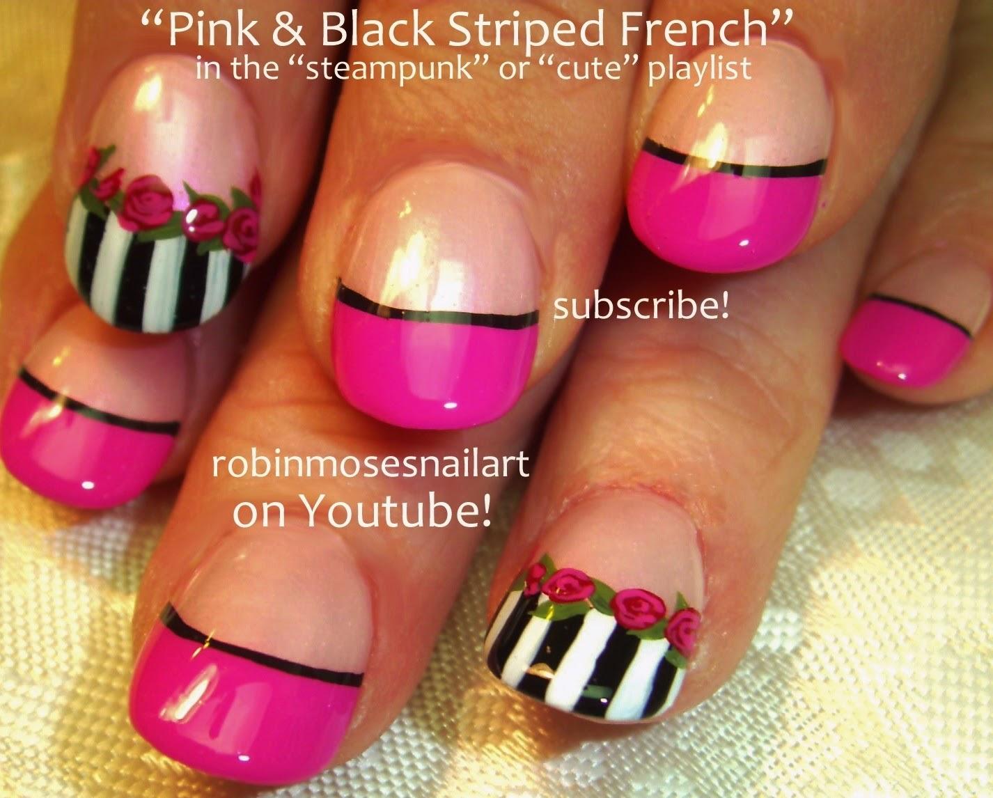Robin moses nail art nail art pink nails spring nails nail art tutorials cute nail art playlist diy nails from easy nail design tutorials to professional pink black prinsesfo Gallery