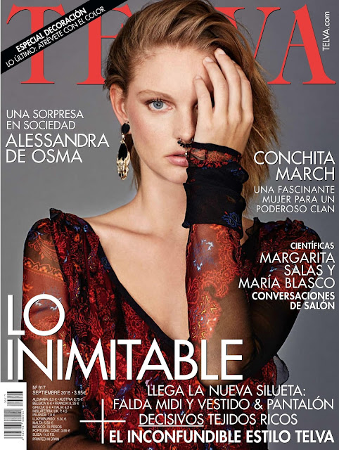 Fashion Model @ Patricia Van Der Vliet for Telva Spain September 2015