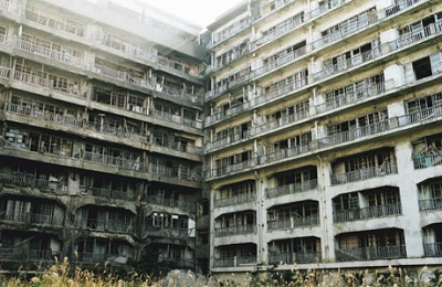 Empty Apartment Blocks in Hashima