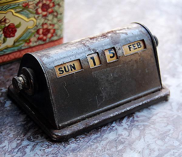 Perpetual Calendar Vintage : Милые сердцу штучки home sweet Вечный календарь
